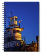 Tug Boat At Dawn, Cape Ann, Gloucester Spiral Notebook