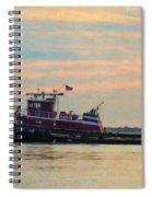 Tug Boat Hard At Work Spiral Notebook