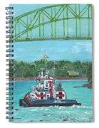 Tug Sabine Under Bourne Bridge Spiral Notebook