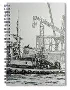 Tugboat Martha Foss Spiral Notebook