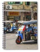 Tuk Tuk Taxis In Bangkok Thailand Spiral Notebook