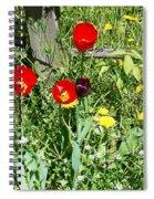 Tulip Garden Spiral Notebook