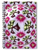 Tulip Kaleidoscope Under Glass Spiral Notebook