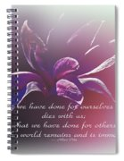 Tulip Magnolia And Albert Pike Quotation Spiral Notebook