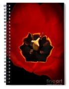 Tulip On Black Spiral Notebook