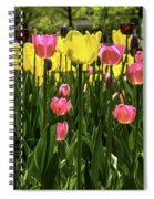 Tulip Time Pink Yellow Black Beauty Spiral Notebook