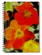 Tulips-6681-fractal Spiral Notebook