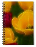 Tulips-6758-fractal Spiral Notebook