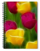 Tulips-6768-fractal Spiral Notebook