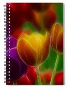 Tulips-7060-fractal Spiral Notebook