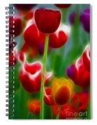 Tulips-7069-fractal Spiral Notebook