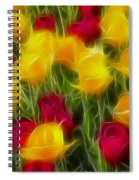 Tulips-7106-fractal Spiral Notebook