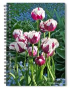 Tulips Among The Forget Me Nots Spiral Notebook