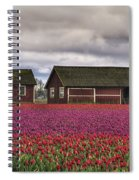 Tulips And Barns Spiral Notebook