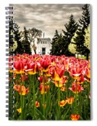 Tulips And Building Spiral Notebook