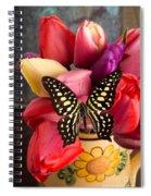Tulips And Butterflies Spiral Notebook