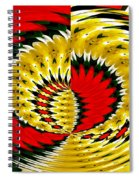 Tulips And Daffodils Polar Coordinates Effect Spiral Notebook