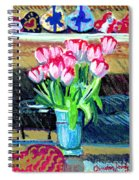 Tulips And Valentines Spiral Notebook