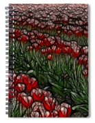Tulips Fields Are Forever Spiral Notebook