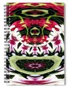 Tulips Hydrangeas Easter Lilies Polar Coordinate Effect Spiral Notebook