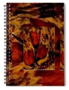 Tulips In Acryl Collage Spiral Notebook