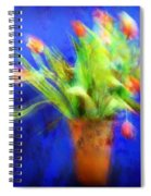 Tulips In The Blue Spiral Notebook
