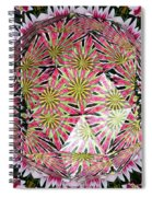 Tulips Kaleidoscope Under Polyhedron Glass Spiral Notebook