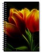 Tulips Of Light Spiral Notebook