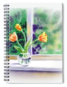Tulips On The Window Spiral Notebook