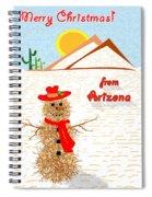 Arizona Tumbleweed Snowman Spiral Notebook