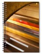 Tunnel Light Trails Spiral Notebook
