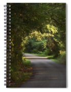 Tunnel Of Trees And Light Spiral Notebook