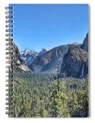 Tunnel View At Yosemite Spiral Notebook