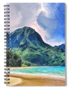 Tunnels Beach Kauai Spiral Notebook