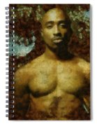 Tupac Shakur - Tribute Spiral Notebook