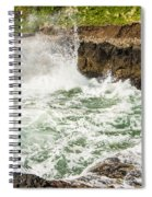 Turbulent Devils Churn - Oregon Coast Spiral Notebook