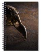 Turkey Vulture Skull On Slate Spiral Notebook