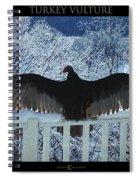 Turkey Vulture Sunning Spiral Notebook
