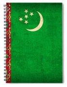Turkmenistan Flag Vintage Distressed Finish Spiral Notebook
