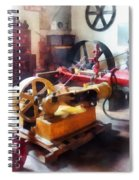 Turn Of The Century Machine Shop Spiral Notebook