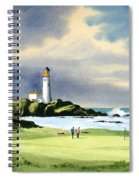 Turnberry Golf Course Scotland 10th Green Spiral Notebook