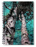 Turquois Trees  Spiral Notebook