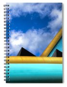 Turquoise And Gold Spiral Notebook