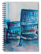 Turquoise Check In Spiral Notebook