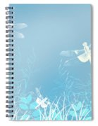 Turquoise Dragonfly Art Spiral Notebook
