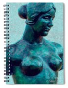 Turquoise Maiden - Digital Art Spiral Notebook