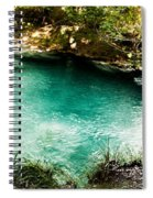 Turquoise River Waterfall And Pond Spiral Notebook