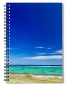 Turquoise Sea And Blue Sky Spiral Notebook