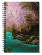 Turquoise Waterfall Spiral Notebook