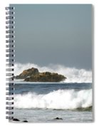 Turquoise Waves Monterey Bay Coastline Spiral Notebook